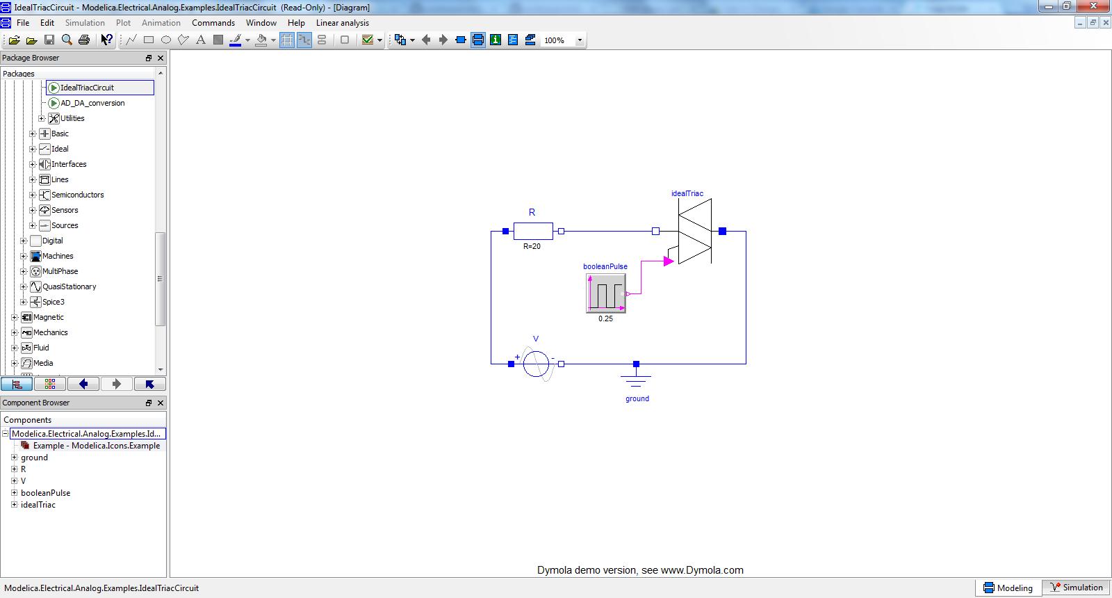 2344 Erroneous Display Of Two Msl 321 Components Openmodelica Digital Triac Circuit Diagram Idealtriaccircuit Dymola 967