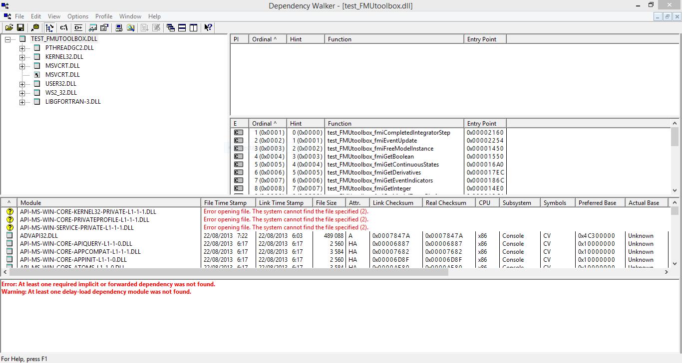 2706 (FMI export - dll dependency) – OpenModelica